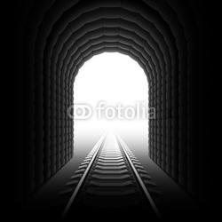 Fotoboard na płycie tunel kolejowy.