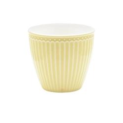 Kubek latte alice pale yellow green gate