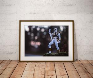 Power rangers white ver3 - plakat wymiar do wyboru: 70x50 cm