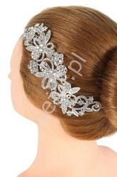 Wpinana kryształkowa ozdoba do włosów na ślub