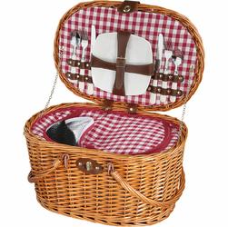 Kosz piknikowy wiklinowy, wyposażenie dla dwóch osób, owalny Riva Cilio CI-156751
