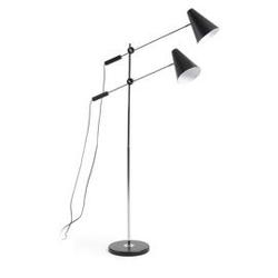 Metalowa lampa podłogowa lilith 90x90 cm czarna