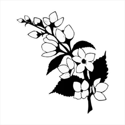 Stempel gumowy Gałązka wiśni