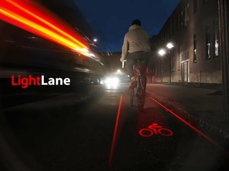 Lampka rowerowa led tylna laserowe logo roweru