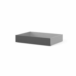 Zestaw szuflad do łóżka 190 cm czarny mat