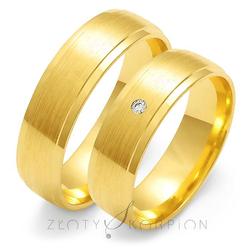 Obrączki ślubne Złoty Skorpion – wzór Au-O44