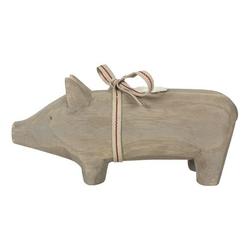 Świecznik świnka drewniana średnia maileg