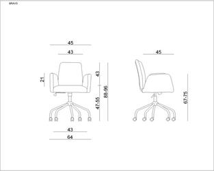 Fotel biurowy tapicerowany bravo kolor