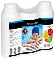 Zestaw basenowy – 3x1 l calcid ph minus + extra chlor + aqua biocyd g-1 – acrylmed