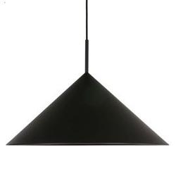 Hk living :: lampa wisząca metalowa triangle czarna
