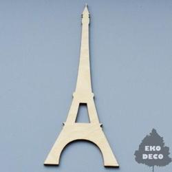 Drewniana dekoracja wieża Eiffla 14,5x6,5 cm - WIEI