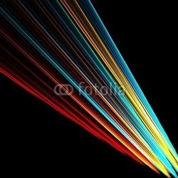 Obraz na płótnie canvas dwuczęściowy dyptyk kolorowa wiązka światła