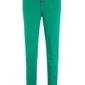 Spodnie ze stretchem i plisą guzikową bonprix zielony miętowy