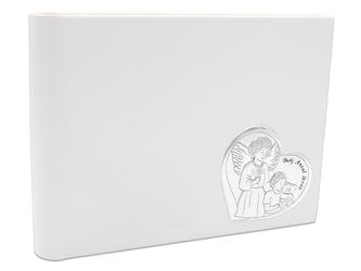 Album za zdjęcia twój anioł stróż pamiątka chrztu srebro 925 skóra grawer