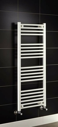 Grzejnik łazienkowy york - wykończenie proste, 500x1200, białyral - biały
