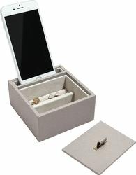 Stacja dokująca i pudełko na biżuterię pojedyncze Stackers taupe