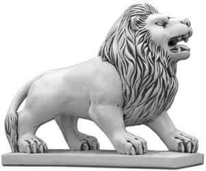 Figura ogrodowa betonowa lew 102cm