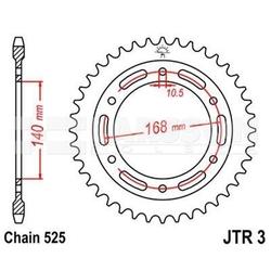 Zębatka tylna stalowa jt r3-41, 41z, rozmiar 525 2302340 bmw f 800 800