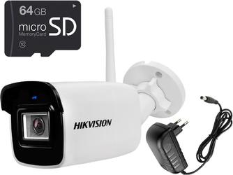 5mpx bezprzewodowa kamera ip wifi ds-2cd2051g1-idw1 64gb z zasilaczem hikvision
