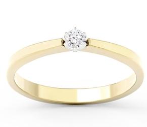 Pierścionek zaręczynowy z żółtego i białego złota z brylantem cp-2410zb