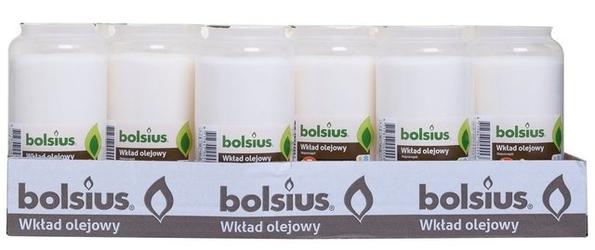 Bolsius, wkład olejowy do znicza, biały, 5 dni  palenia, 24 sztuk
