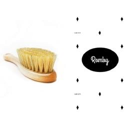 ROMBY szczotka z naturalnego włosia + myjka