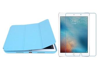 Etui alogy smart case do apple ipad air 3 2019 pro 10.5 niebieskie + folia + rysik - niebieski