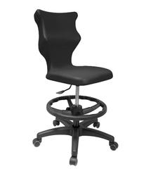 Dziecięce krzesło do sal szkolnych z podnóżkiem i stopkami twist rozmiar 4
