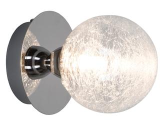 Ozdobny kinkiet brava ze szklanym kloszem w kształcie kuli