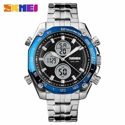 Zegarek męski SKMEI 1302 DUAL TIME blue - BLUE