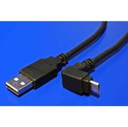 Kabel usb 2.0, usb a  m- usb micro m, 1.8m, pod katem 90°, czarny