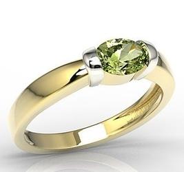 Pierścionek z żółtego i białego złota z oliwin ap-67zb-oli - wysyłka w następny dzień roboczy - sprawdź dostępność