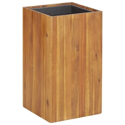 Vidaxl podwyższona donica ogrodowa, 33,5x33,5x60 cm, drewno akacjowe