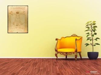 człowiek witruwiański - leonardo da vinci ; obraz - reprodukcja