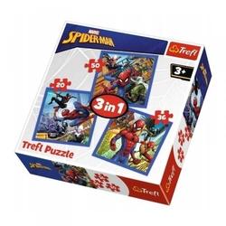 Trefl puzzle 3w1 spiderman pajęcza siła 34841