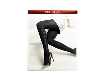 Allure n09 marilyn rajstopy czarne z ćwiekami po boku