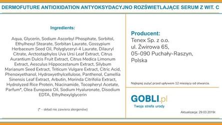 Dermofuture anti-oxidation, rozświetlające serum z witaminą c 30ml