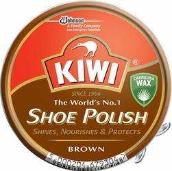 Kiwi, brązowa pasta do butów w puszce, 50ml