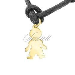 Srebrna zawieszka do bransoletki pr.925 złocony chłopiec do grawerowania - żółte złoto