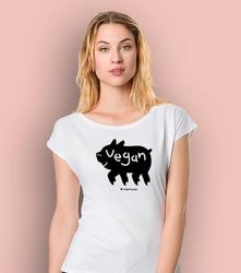Vegan t-shirt damski biały m
