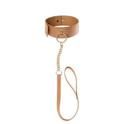 Sexshop - maze wide chocker  brązowy - obroża szeroka i smycz bijoux indiscrets - online