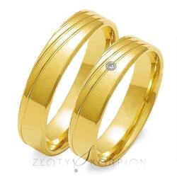 Obrączki ślubne złoty skorpion – wzór au-o133
