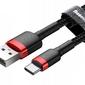 Baseus kabel cafule usb-c 3a 50cm red black - czerwony    czarny