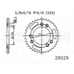 Zębatka tylna stalowa jt 50-29029-41, 41z, rozmiar 525 2302349 cagiva navigator 1000