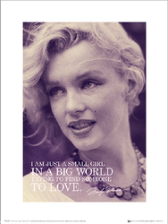 Marilyn Monroe Love - plakat premium