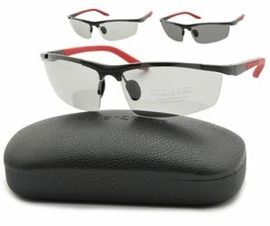 Sportowe okulary polaryzacja + fotochrom aluminiowe pol-352bfp