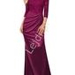 Burgundowa sukienka hiszpanka
