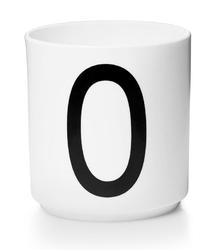 Kubek porcelanowy AJ litera O