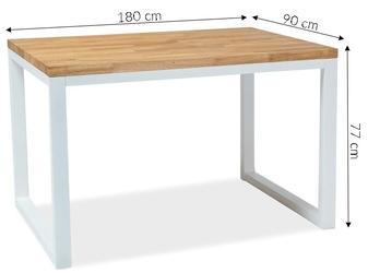 Stół dee x 180x90 cm loft dąb