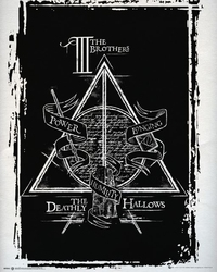 Harry potter deathly hallows graphic - plakat
